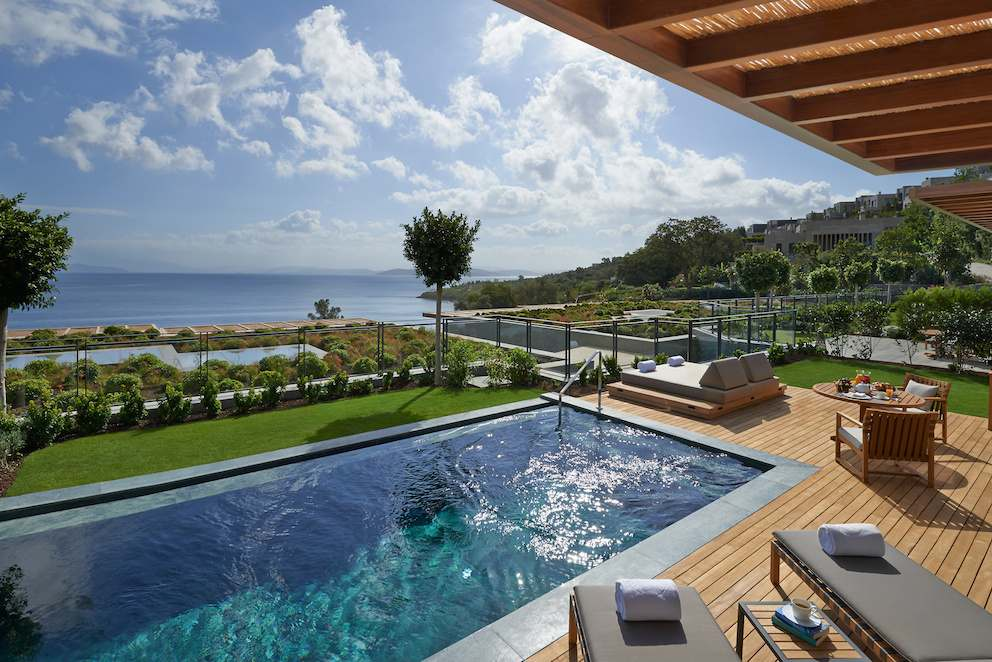 Mandarin Oriental Bodrum private Pool Terasse
