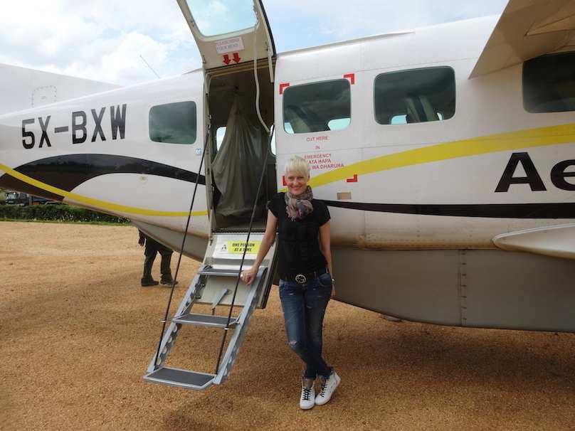 Flugzeug Uganda