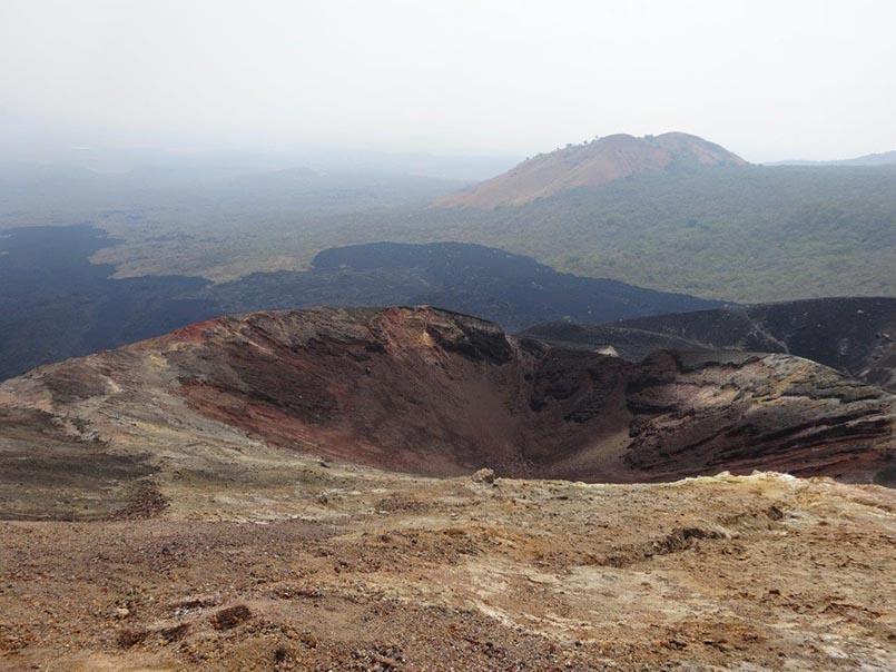 Aussicht auf dem Vulkan