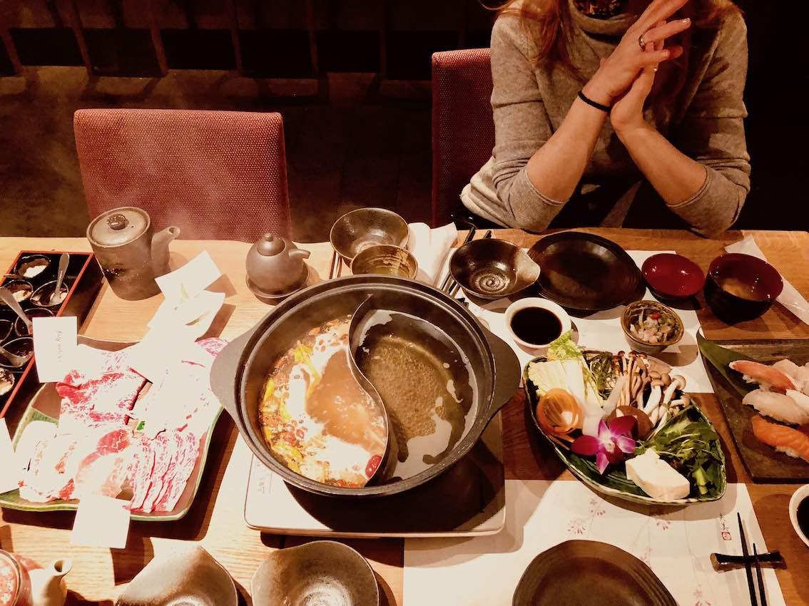 Essen in Niseko Japan Skifahren