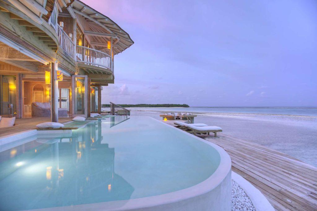 Soneva Jani Zimmer mit Pool und Strandlage
