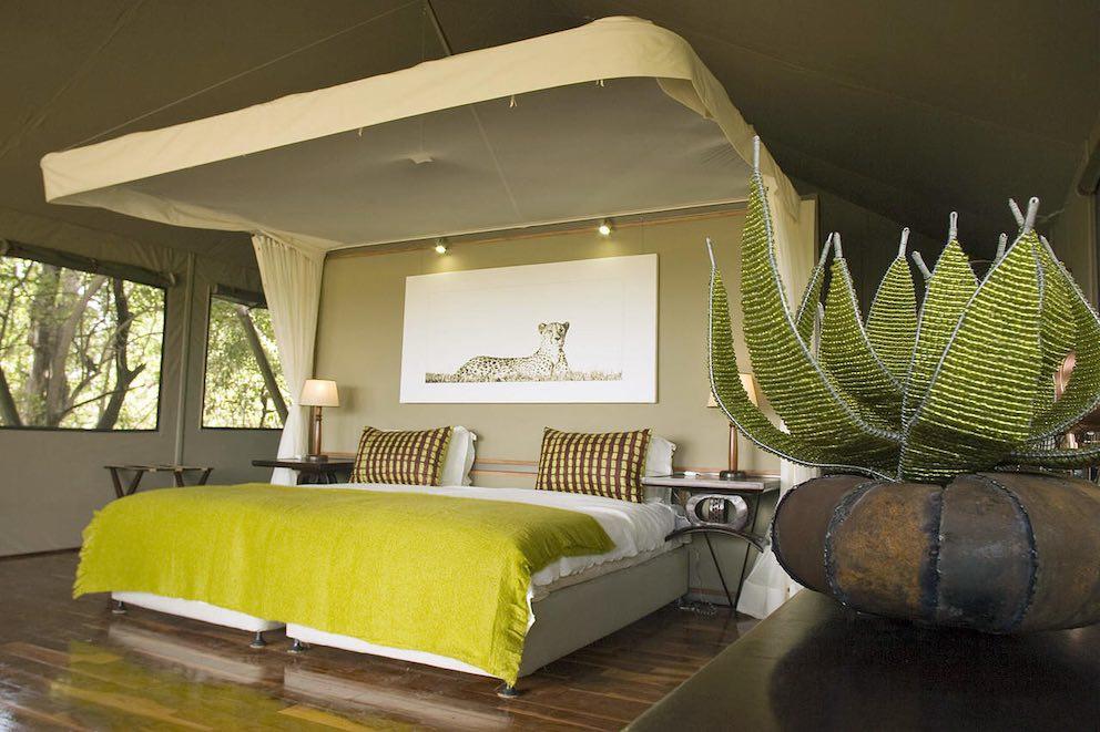 Chitabe Camp Schlafzimmer Lounge