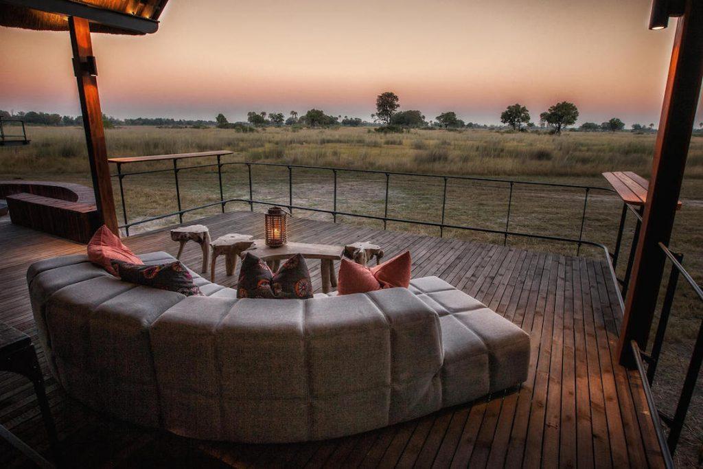 Safarihotel Chitabe Camp Aussichts Lounge