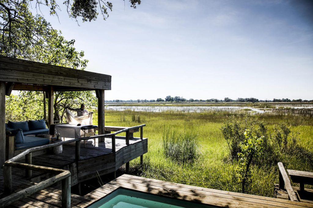 Ausblick vom Safari Camp Vumbura Plain Botswana