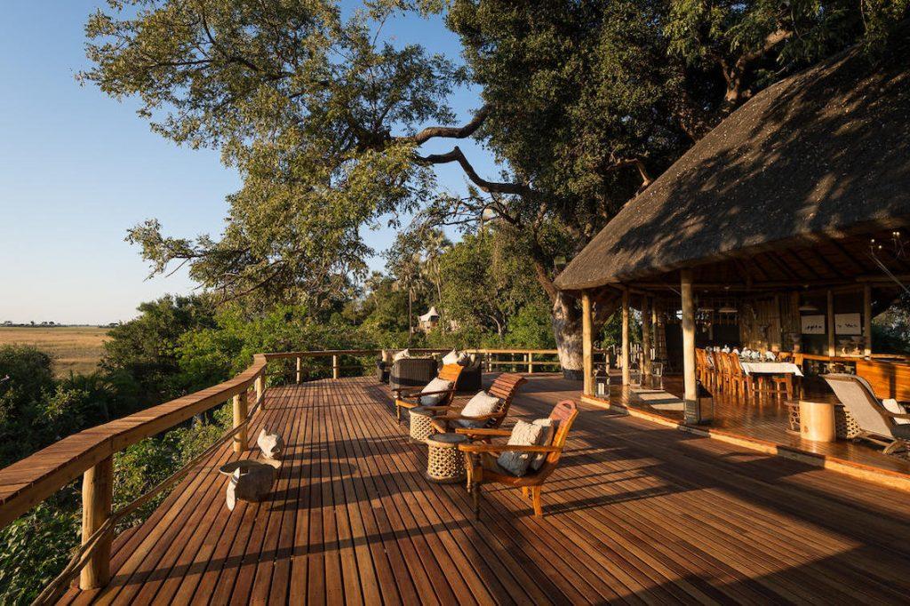 Kwetsani Camp Botswana Aussichtsplattform