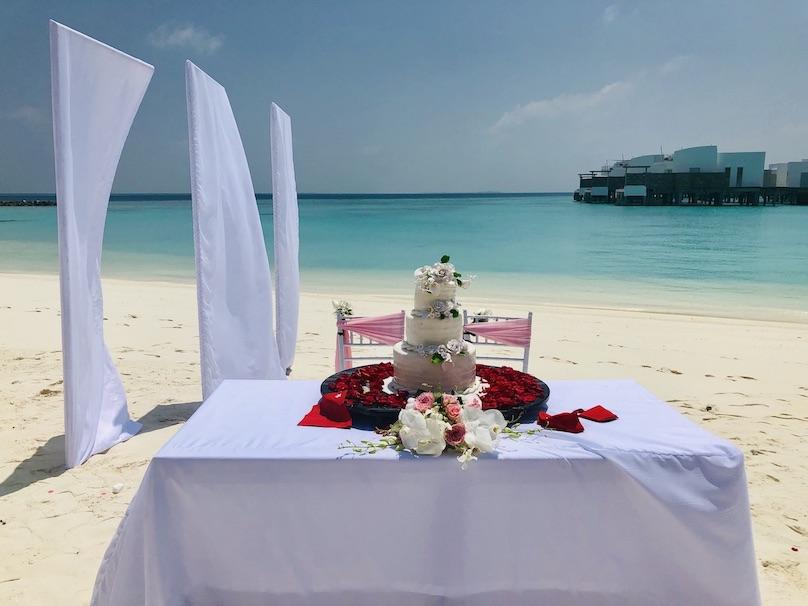 Malediven Hochzeitskuchen
