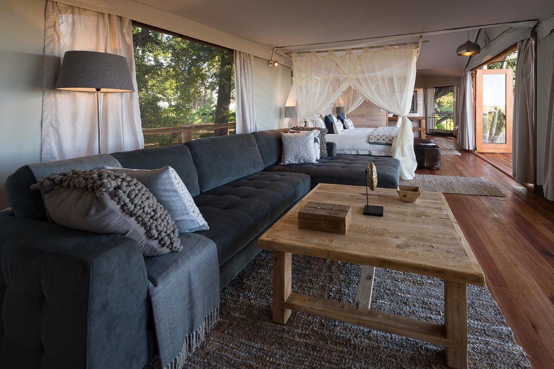 Wilderness Kwetsani Camp Wohnzimmer Lodge