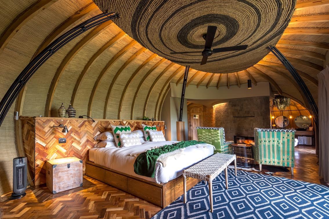 Bisate Lodge Schlafzimmer