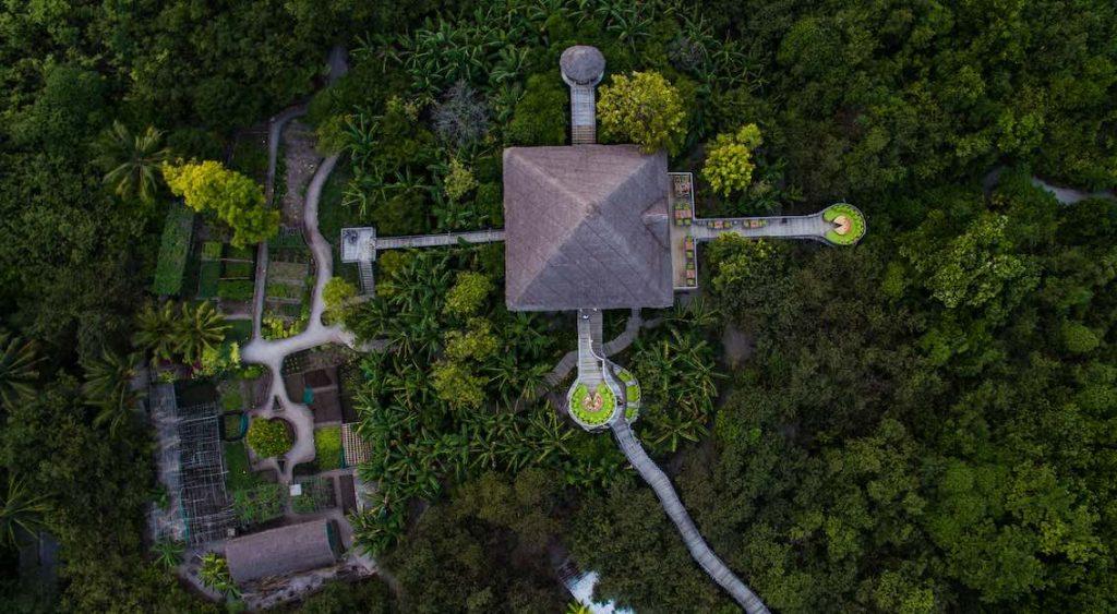 Soneva Fushi Garten Luftaufnahme