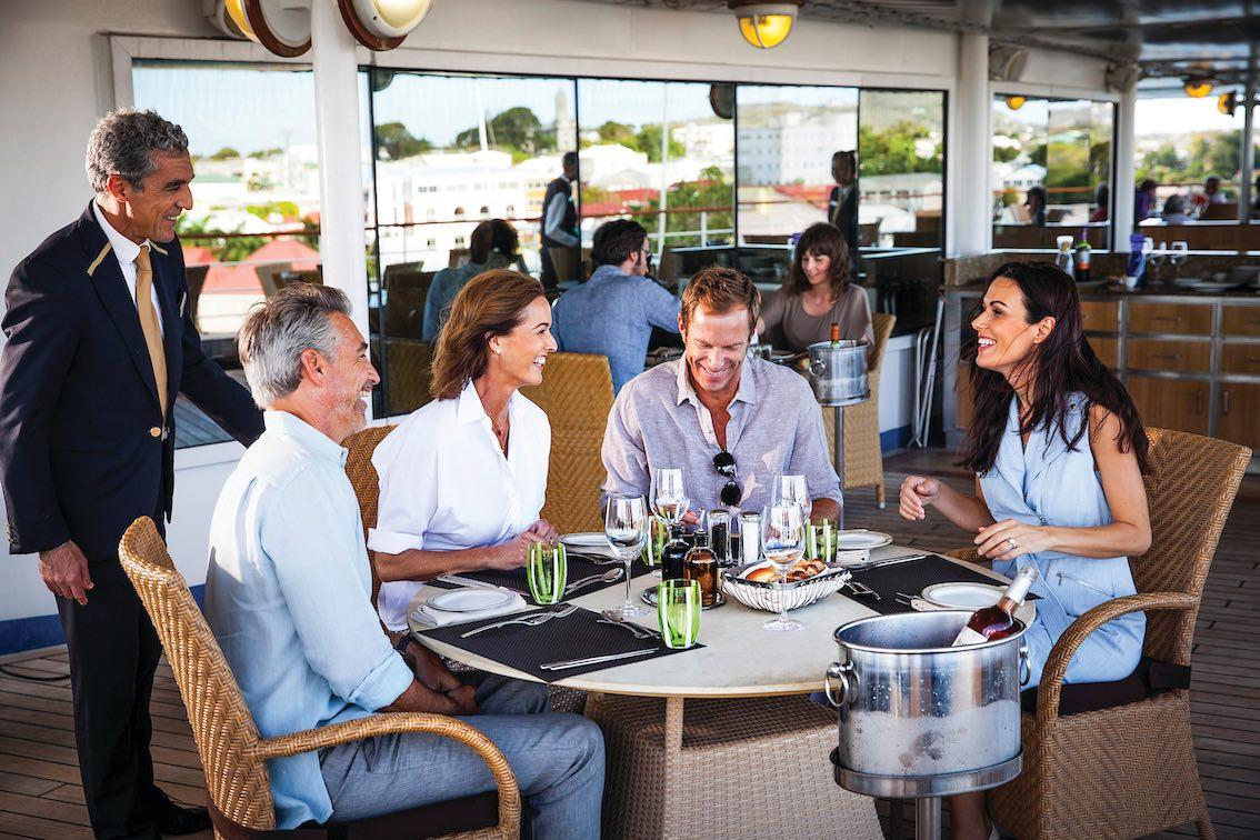 Essen-auf-der-Silversea-Luxus-Kreuzfahrtschiff