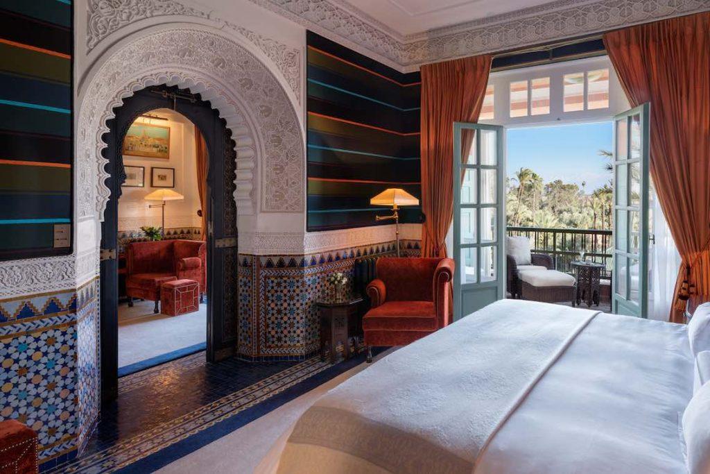 La Mamounia Schlafzimmer mit Ausblick
