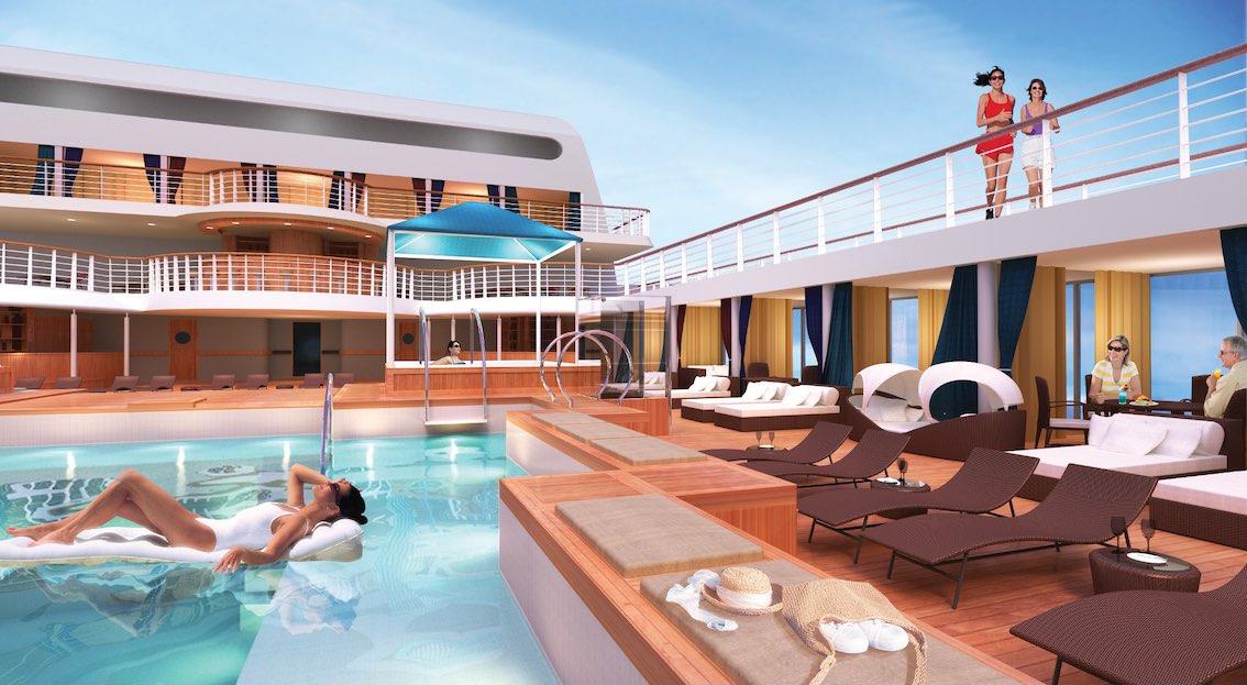 Schiff Odyssey Poolbereich