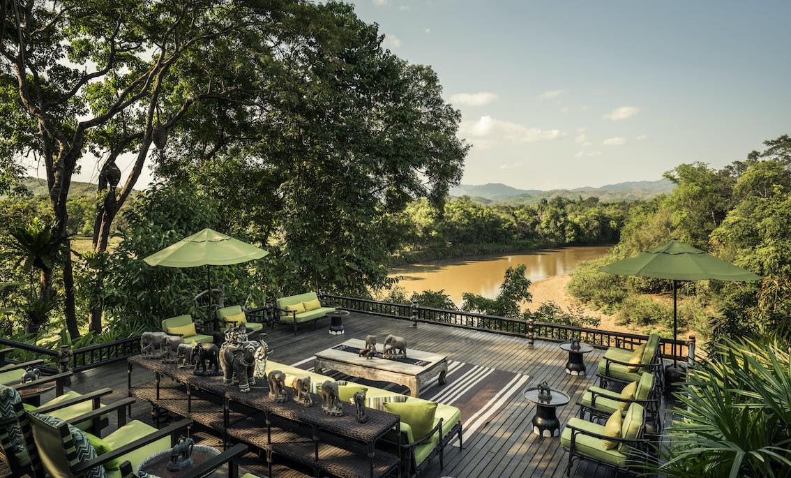 Four Seasons Tented Camp Golden Triangle Aussichtsplattform