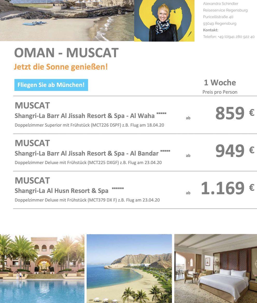 Oman Angebot