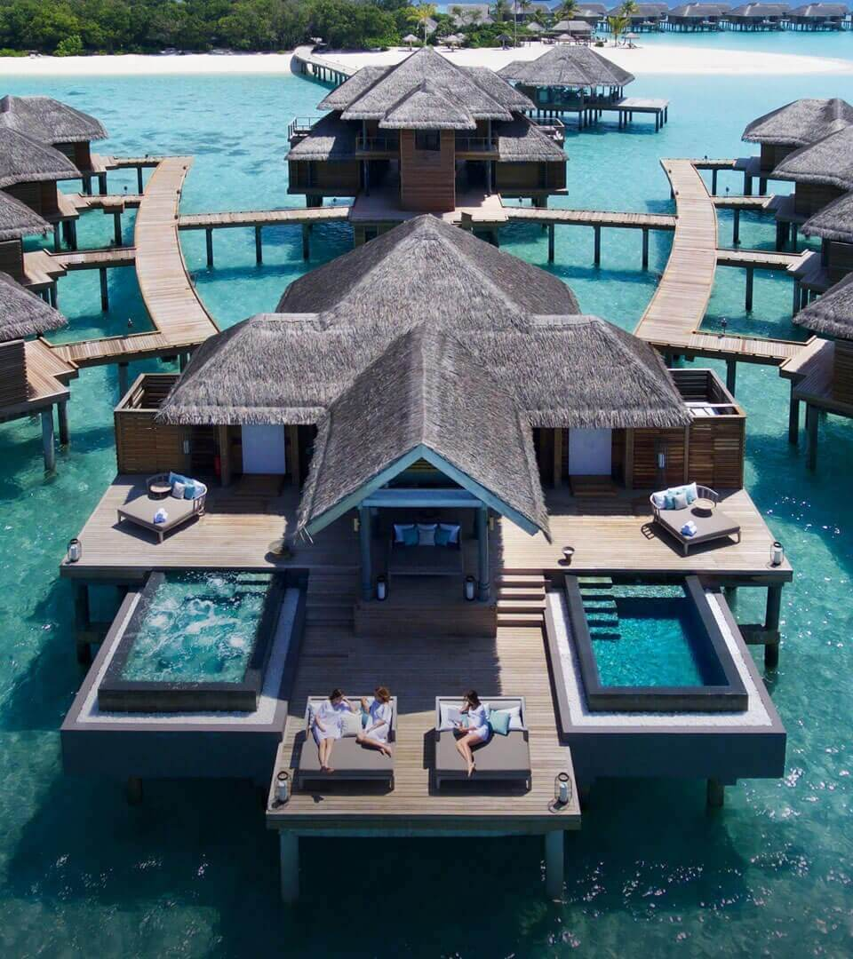 Hotel Malediven mit zwei Pools