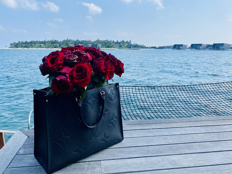 Louis Vuitton mit Rosen