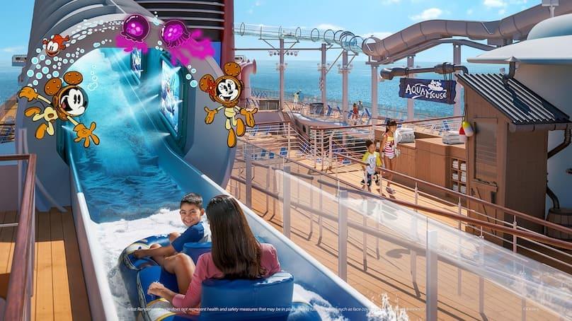 Disney Wish Schiff Wasserrutsche